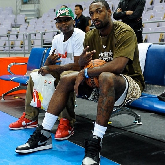 great deals best website best sale Celebrity Sneaker Watch: Gilbert Arenas in Air Jordan 1 ...